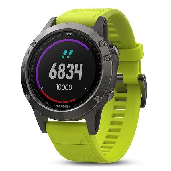 Часы для бега Garmin Fenix 5 Slate Gray with Amp Yellow Band