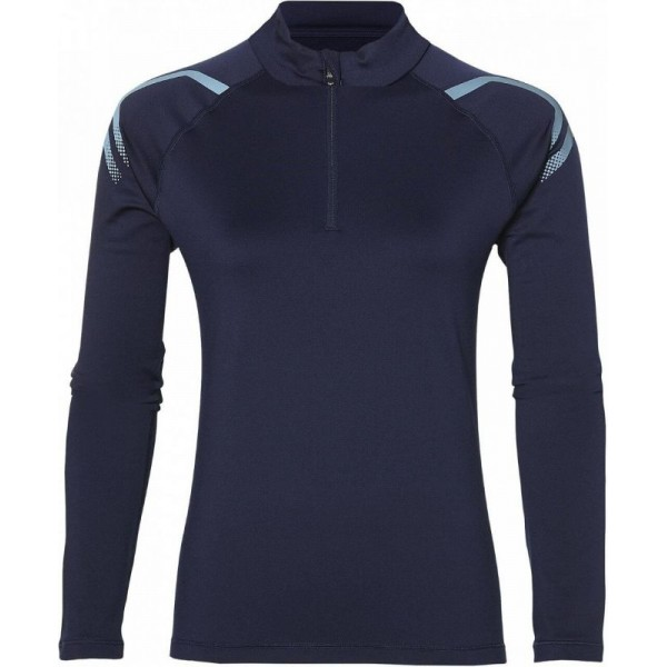 "Женский лонгслив для бега Asics ICON winter LS 1/2 zip top ""19-20"